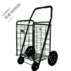 Heavy Duty Foldable Shopping Flea Market Cart Grocery Laundry Extra Large New