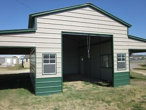 42x26x12 Steel Garage Barn Free Del Installation Nationwide prices Vary