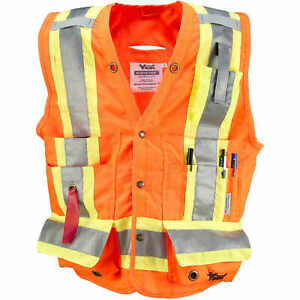 Large Orange Viking Class 2 Surveyor Safety Vest