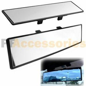 Universal 300mm Interior Clip On Wide Rear View Clear Flat Mirror