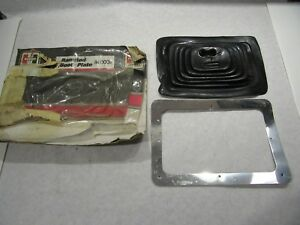 Nos Hurst Ram Rod Shifter Boot And Plate 1140009 As Is Shelf Wear