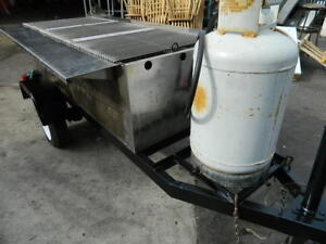 Tow Behind Trailer 72 Radiant Charbroiler Propane Concessions Bbq Smoker