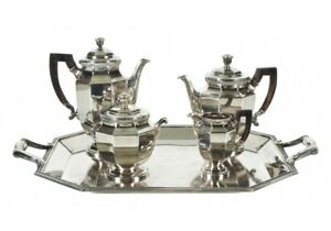 Vintage Christofle Silver Plate Tea Service Set With Tray 53851
