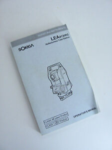 Sokkia Surveying Instruments User Manual Lea4130r3 Reflectorless Total Station