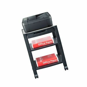 Mind Reader 3 shelf Printer Cart Stand With Wheels Drawer Cord Management