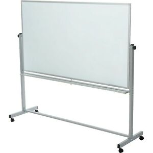 Rolling Magnetic Dry Erase Whiteboard Double Sided Reversible 96 X 40 Lot