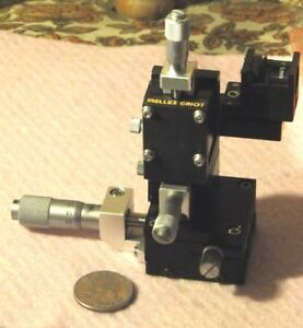 Melles Griot Optosigma 3 Axis Coupled Compact Translation Stage With Laser Lens