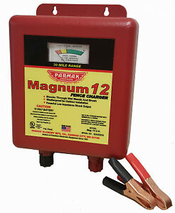 Electric Fence Charger 30 Mile Low Impedance 12v Battery Parker Mag12uo