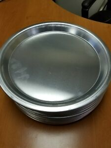 Aluminum Tapered Round Pizza bake Tray Pan 13 outer 11 inner 1 h Lot Of 12