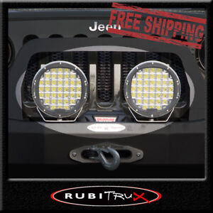 9 Inch Led Auxiliary Drl Driving Light Pair 185watt Offroad Spot