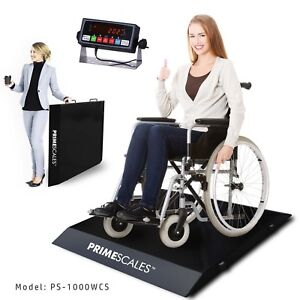 Ps 1000wcs Ultra portable Light Weight Wheel Chair Scale With Two Ramps