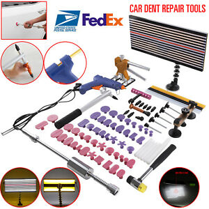 Pdr Tools Car Dent Diy Paintless Hail Repair Automotive Dent Ding Removal Us Kit