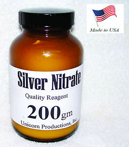 Silver Nitrate Made From 99 99 Silver Reagent 200 Grams Agno3 Cas 7761 88 8