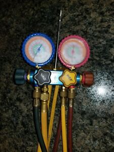 Imperial R 22 R 410a R 404a Refrigerant Manifold Gauges With Hoses