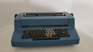 Vintage Ibm Correcting Selectric Ii Electric Typewriter Cobalt Blue Needs Work