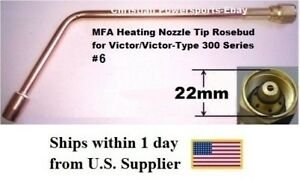 Mfa Heating Nozzle Tip Rosebud For Victor victor type 300 Series 6 1187 6