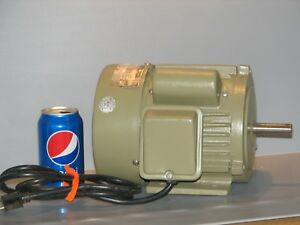 Hp Capacitor Start Electric Motor 110 220 Volt 1720 Rpm Used Sye Craftsman Typ