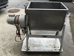 Leland 200da 200 Pound Dual Action Paddle Stainless Steel Meat Food Mixer
