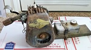 Antique 1940s Briggs And Stratton Wmb Stationary Engine Motor Kick Start Runs