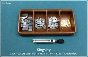 Kingsley Machine 12pt Spacers With Plastic Tray Holder Hot Foil Stamping