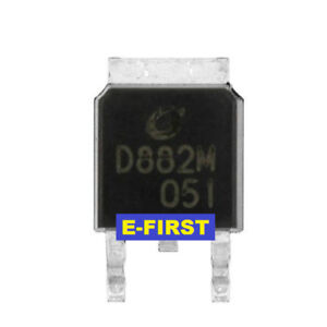 500pcs Sot 252 D882m D882 Audio Amplifier Switch 2sd882 Smd