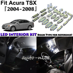 10x White Led Interior Lights Package Kit For 2004 2005 2006 2007 2008 Acura Tsx