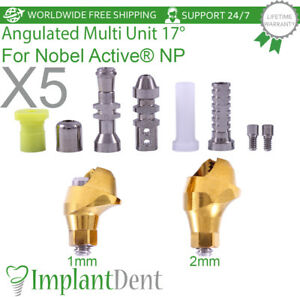 5 Angulated Multi Unit Abutment 17 Kit For Nobel Biocare Active Hex Np Dental