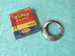 1949 Plymouth Steering Wheel Horn Button Emblem Retainer Nos Mopar 418