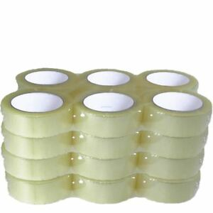 48 Quantity Clear Jumbo Rolls Packing Moving Shipping Packaging Tape 2 Inch Wide
