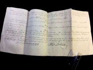 Antique Autographed Parchment 1859
