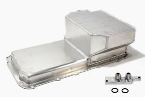 Aluminum Fabricated Sbc T6 Oil Pan 6 5 Deep Ls1 To Ls6 With Oil Filter Adapter