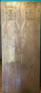 Pair Of Large Art Deco Panels Attr To Edgar Brandt From Whitney Bank New Orleans