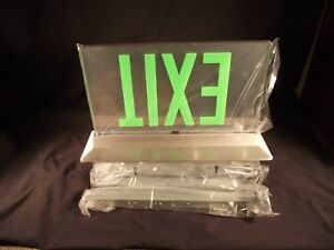 Led Edge Lit Green Exit Sign High End Architectural Isolite Eltacg2mbarcuc Usa