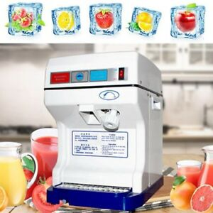 220v Electric Ice Shaver Machine Tabletop Shaved Crusher Snow Cone Maker Party