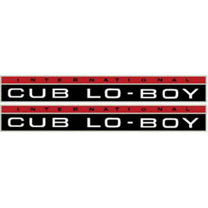 New Cub Lo boy International Harvester Farmall Tractor Hood Decal Kit Quality