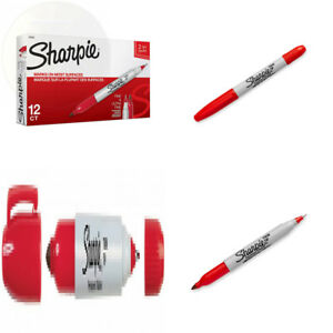 Sharpie 32002 Twin Tip Fine Point And Ultra Permanent Marker Red 12 pack