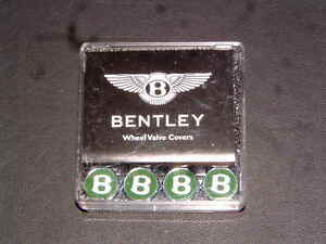 Bentley Accessories New In Box Green silver Valve Caps New In A Boxed Set Of 4