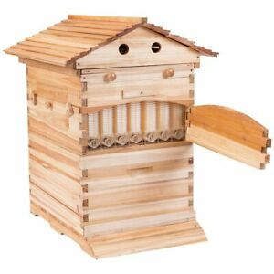 Goplus Beehive Frames Flow Honey Wooden Beehive House Bulk Automatic Honey Beehi