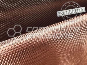 Copper Metalized Carbon Fiber Fabric 2x2 Twill 3k 50 Toray T 300 2nd Quality