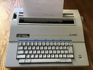 Smith Corona Xl1500 Electric Electronic Typewriter With Cover Working