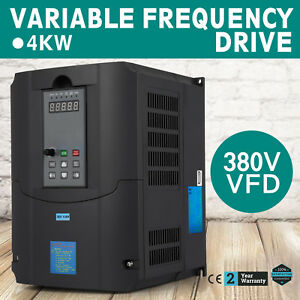 4kw 380v Variable Frequency Drive Vfd Inverter Low output Single Phase Newest