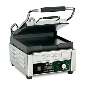 Waring Commercial Wfg150t Flat Panini Grill With Timer 120 volt