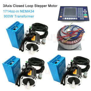 12nm 3axis Nema34 Closed Loop Stepper Motor Drive ac900w Transformer controller