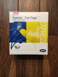 3m E a r Express Pod Plugs Corded Earplugs 100 Pairs free Shipping