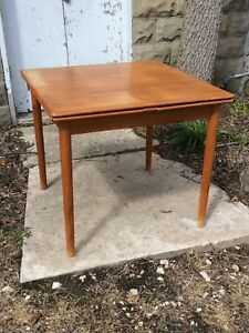 Mid Century Danish Modern Am Mobler Denmark Teak Table True High End Vintage