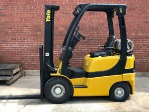 2006 Yale 4000 Forklift Solid Pneumatic Tires 2 Stage Lp Glp040
