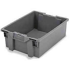 Orbis Gs6040 13 Stack n nest Pallet Container 23 5 8 X 15 3 4 X 5 1 4 Gray