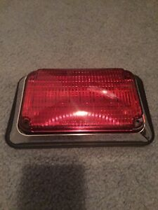 New Whelen 600 Series Red Super led Warning flasher 60r02frd With Chrome Flange
