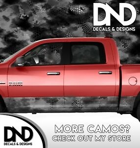 Camo Chameleon Night Rocker Panel Wrap Graphic Decal Kit Truck Camouflage Da43rp
