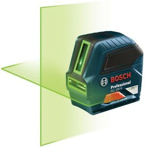 Bosch Cross Line Laser Level Self Leveling Green Beam Keypad Operation Hand Tool